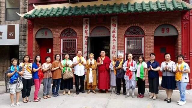 金刚法王梵文书法作品世界巡展走进纽约妙觉寺(美国第三站)