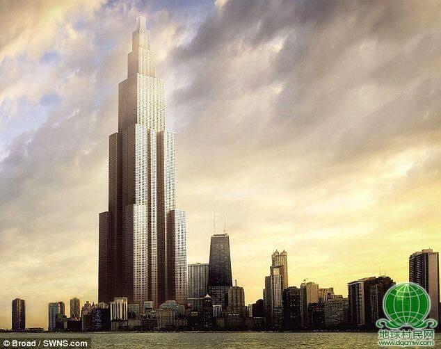 世界第一摩天大楼高838米 比迪拜塔高10米