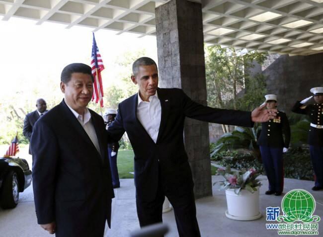 习近平同美国总统奥巴马举行中美元首会晤