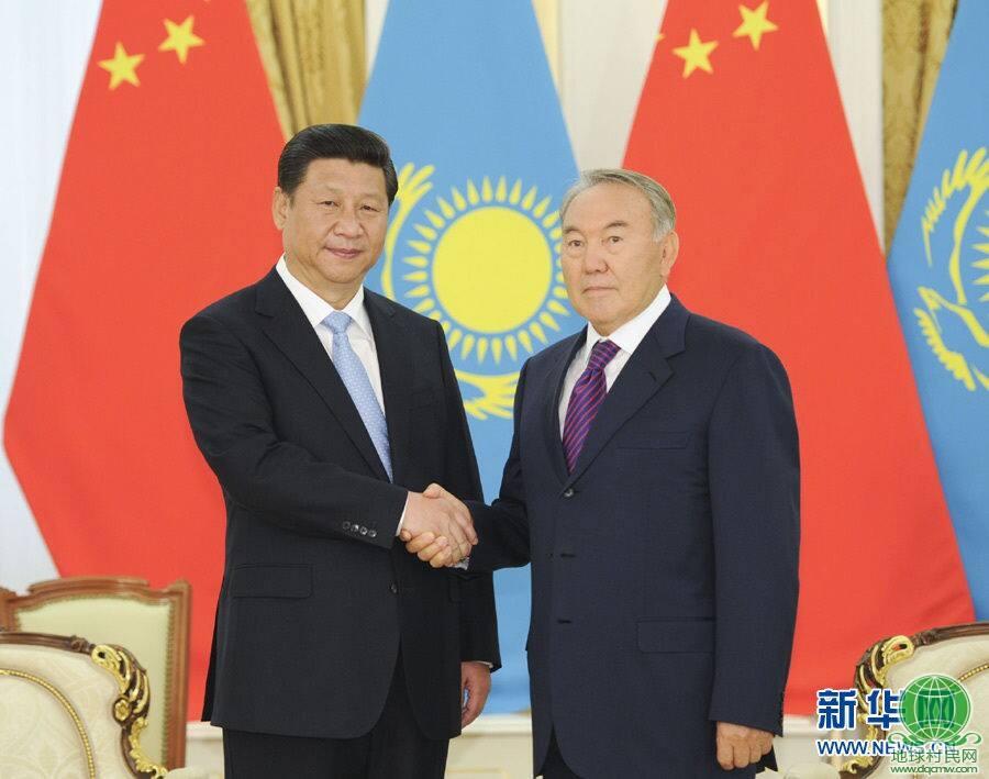 """习近平会晤哈萨克斯坦总统:必须严打""""三股势力"""""""