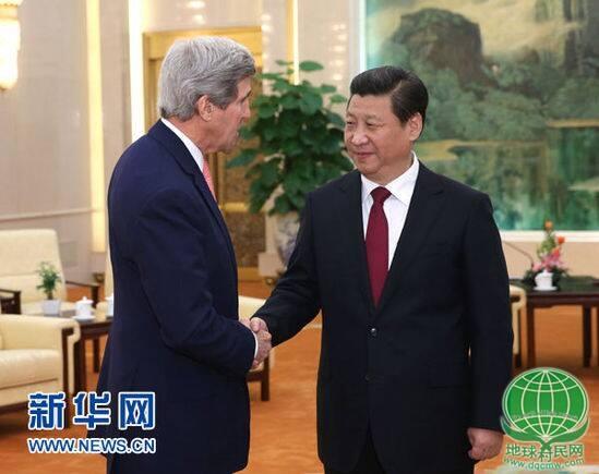 国家主席习近平会见美国国务卿克里