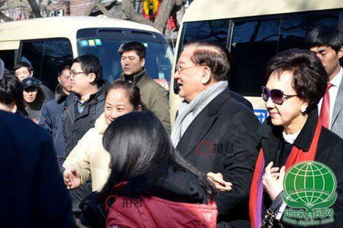 国民党荣誉主席连战及夫人走访南锣鼓巷