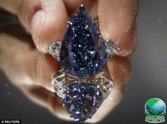 世界最大蓝钻2400万美元拍出 行家称是极品(图)