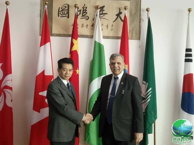 世界物联网大会执行主席何绪明亲切接见巴基斯坦驻华使节