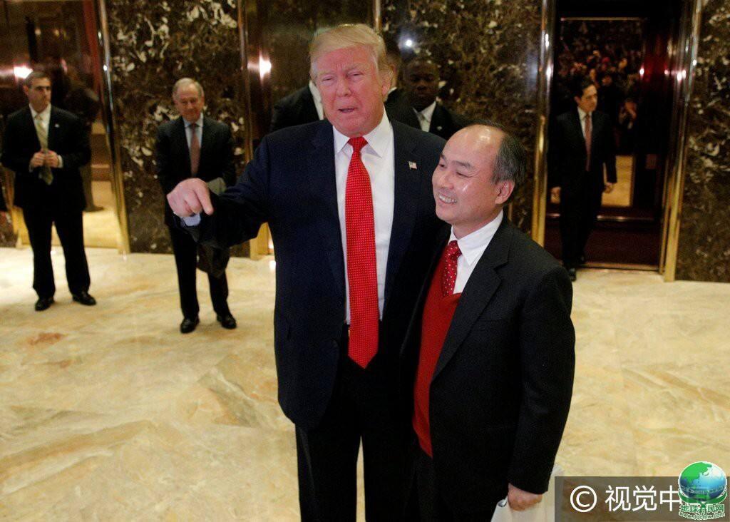 软银董事长孙正义与特朗普会面 承诺在美投资500亿美元