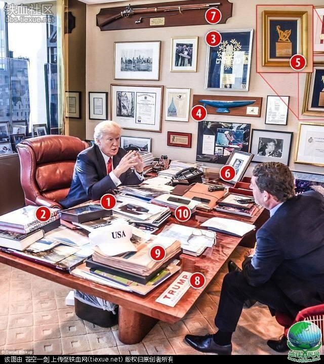 川普的办公室是啥样子的?